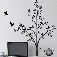 Arbre wall sticker oiseau fleur feuille fenêtre autocollants muraux wall decal wall art 21