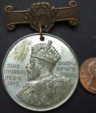 S063: 1906 SCHOOL ATTENDANCE Medal with Clasp - S.CHAMBERLAIN