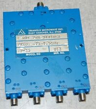 Triangle Microwave Inc. 4 Way Power Divider, Model YF-25, FREQ:  .75 - 1.5 GHz
