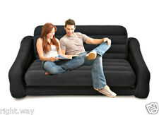 Intex Velvet Inflatable Air Sofa Extra Large Pullout Sofa Cum Bed