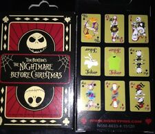 Disney Nightmare Before Christmas Playing Card Set 2 pin Box