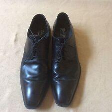 Antonio Maurizi Men's 5422 Burnished Plain Toe Lace Up Shoe Black Size 12 or 45