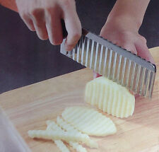 Stainless Steel Kitchen Knife Wave Potato Chip Slicer Cutter French Fry Cutter