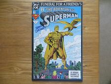 1993 DC ADVENTURES OF SUPERMAN 499 FUNERAL FOR A  FRIEND SIGNED JERRY ORDWAY POA