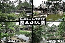 SOUVENIR FRIDGE MAGNET of SUZHOU GARDENS CHINA UNESCO