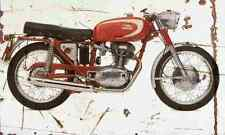 Ducati Mach1 1964 Aged Vintage SIGN A4 Retro