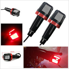 2 Pcs Motorcycle Waterproof Handlebar Turn Signal Bar End LED Side Marker Lights