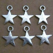 50pc Tibetan Silver Dangle Charms Star Beads Accessories Jewelry Findings 003
