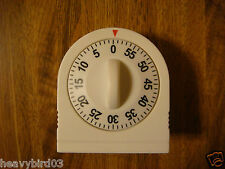 #57  WHITE 60 MINUTE TIMER-WIND UP  HIDDEN SECRET DIVERSION SAFE,  CAN, STASH
