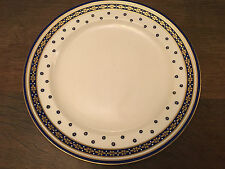 A RARE ROYAL CROWN DERBY COBALT BLUE & WHITE PLATE WITH GOLD DECOR ,1180 PATTERN
