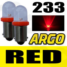 2 X 233 LED RED REAR BULBS BA9S TW4 PIAGGIO-VESPA Ciao 50 VSC1 (C6V1T)