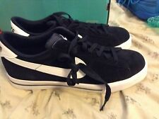 NIKE SWEET CLASSIC Leather Shoe Black Suede White Size 10.5