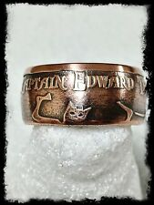 """""""BlackBeard"""" 1 Oz Handcrafted .999 Pure Copper Coin Ring Size 10-16"""