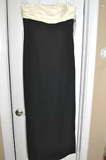 BEAUTIFUL Ralph Lauren Evening Gown Black/Ivory Size 12 New w/ tags $ 190.00 #2
