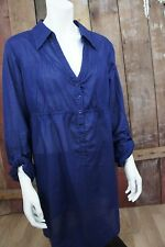 edc by esprit 1968 San Francisco * Longbluse * Taillenzug * Dunkelblau * Gr XL