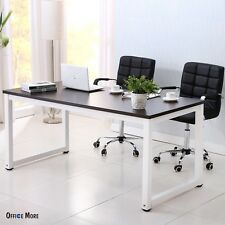 Black Wood Computer Desk PC Laptop Table Workstation Study Home Office Furniture