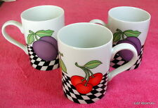 "{SET OF 3} Fitz & Floyd (Fruits Du Jour) 3 7/8"" MUGS Exc"