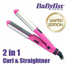 BaByliss 2 in 1 Curl & Hair Straightener Styler Curling Flat Iron  Mini-size