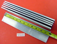 "6 Pieces 1/4"" X 3"" ALUMINUM 6061 FLAT BAR 12"" long .250"" T6511 Plate Mill Stock"