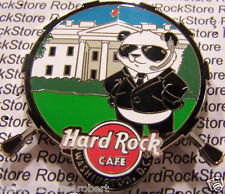 2015 HARD ROCK CAFE WASHINGTON DC SECRET SERVICE PANDA/WHITE HOUSE DRUM PIN