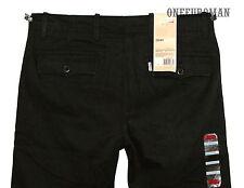 NWT LEVIS CHINO REGULAR FIT CLASSIC BLACK TWILL TROUSER PANTS W30 L32
