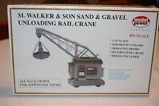 Model Power Model Railroad HO M Walker & Son Sand & Gr Unloading Rail Crane #303