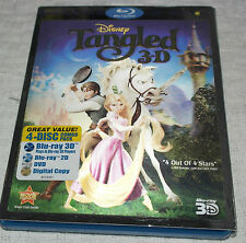 Bluray Tangled [Blu-ray] [US Import] 4 disc (3D/2D/DVD) with slipcase