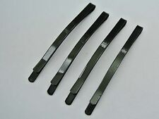 30 Black Metal Flat Top Curved Long Bobby Hair Pin Clips Barrette 64mm