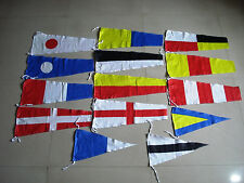 Nautical Sailboat Boating Signal Code FLAG -100% COTTON -14 flags