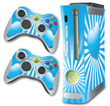 Skin Decal Wrap for Xbox 360 Original Gaming Console & Controller Xbox360 HEART