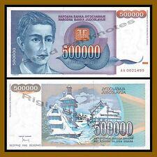 Yugoslavia 500000 (500 Thousand) Dinara, 1993 P-119 Unc