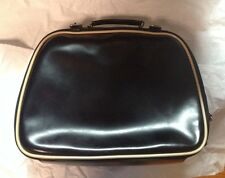 Miu Miu by Prada Beige & Black Patent Leather Top Handle Bag case purse