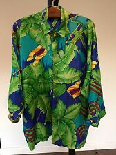 Rare Vintage Men V2 by Gianni Versace9 Luxury All Over Print Silk Shirt Size M