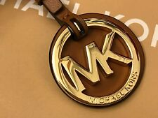NEW W/OUT TAG MICHAEL KORS MK MEDALLION LOGO KEY CHAIN BAG CHARM IN ACORN