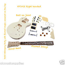 Coban Top Student or Pro DIY guitar kit, LP style Lovely Flame Inlays HY1012