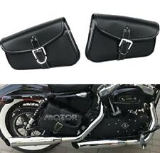 Motorcycle Saddlebags Bag Luggage PU Leather fit Harley Sportster XL 883 1200