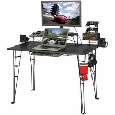 Computer Gaming Desk Ergonomic Game Station Furniture Monitor TV Stand XBox Ps4