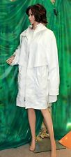 Junge of Danmirk 3/4 length  lined PVC White coot zip front size 52 euro