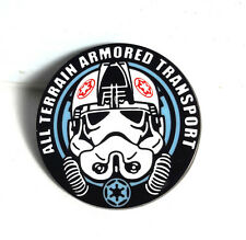 "2016 Star Wars UK Celebration AT-AT Driver 1 1/8"" Pin-   FREE S&H (SWPI-KL-01)"