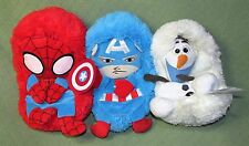 Lot of 3 Hide Away Pets MARVEL COMICS Captain America SPIDERMAN Disney OLAF Toys