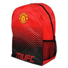 MANCHESTER UNITED FC LARGE FADE BACKPACK SCHOOL BAG KIDS ADULT NEW XMAS GIFT