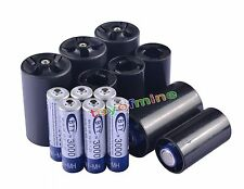 8x AA Rechargeable Battery + 4x C Size + 4x D Size Battery Adapter Converter