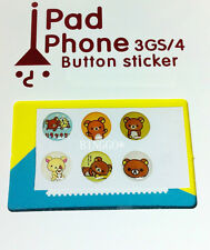 iPhone Home Button Stickers for Apple iPhone 5 / 4 4S 3GS iPad 1 2 3 4 Rilakkuma