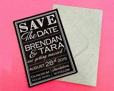 10 Personalised Wedding Save The Date Fridge Magnets with envelopes