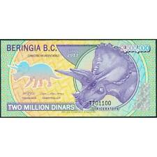 TWN - BERINGIA Bering 2000000 2.000.000 Dinars 2013 UNC Polymer Private issue