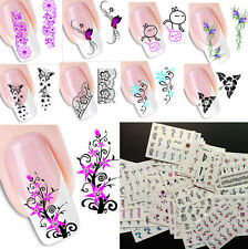 Lots 50PCS Mixed Flower Design 3D Nail Art Water Transfer Decals Stickers