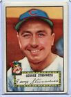 1952 Topps Baseball Card George Stirnweiss  Cleveland Indians R/B EX Mint # 217