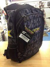 NEW  ROCKSTAR ROCK STAR BACK PACK BACKPACK SCHOOL TRAVEL LUGGAGE BAG PACK BLACK