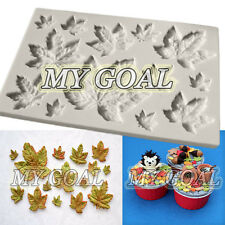 MAPLE LEAVES Vein Silicone Fondant Mould Cake Decor Sugar Gum Paste Icing Mold