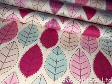 PRETTY ROSE AND HUBBLE SUMMER LEAF PRINT FABRIC 100% COTTON 112cm WIDE PER METRE